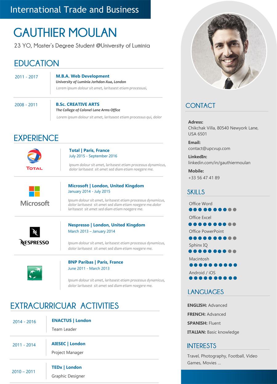 modèle CV moderne Recherche Google in 2020 Infographic