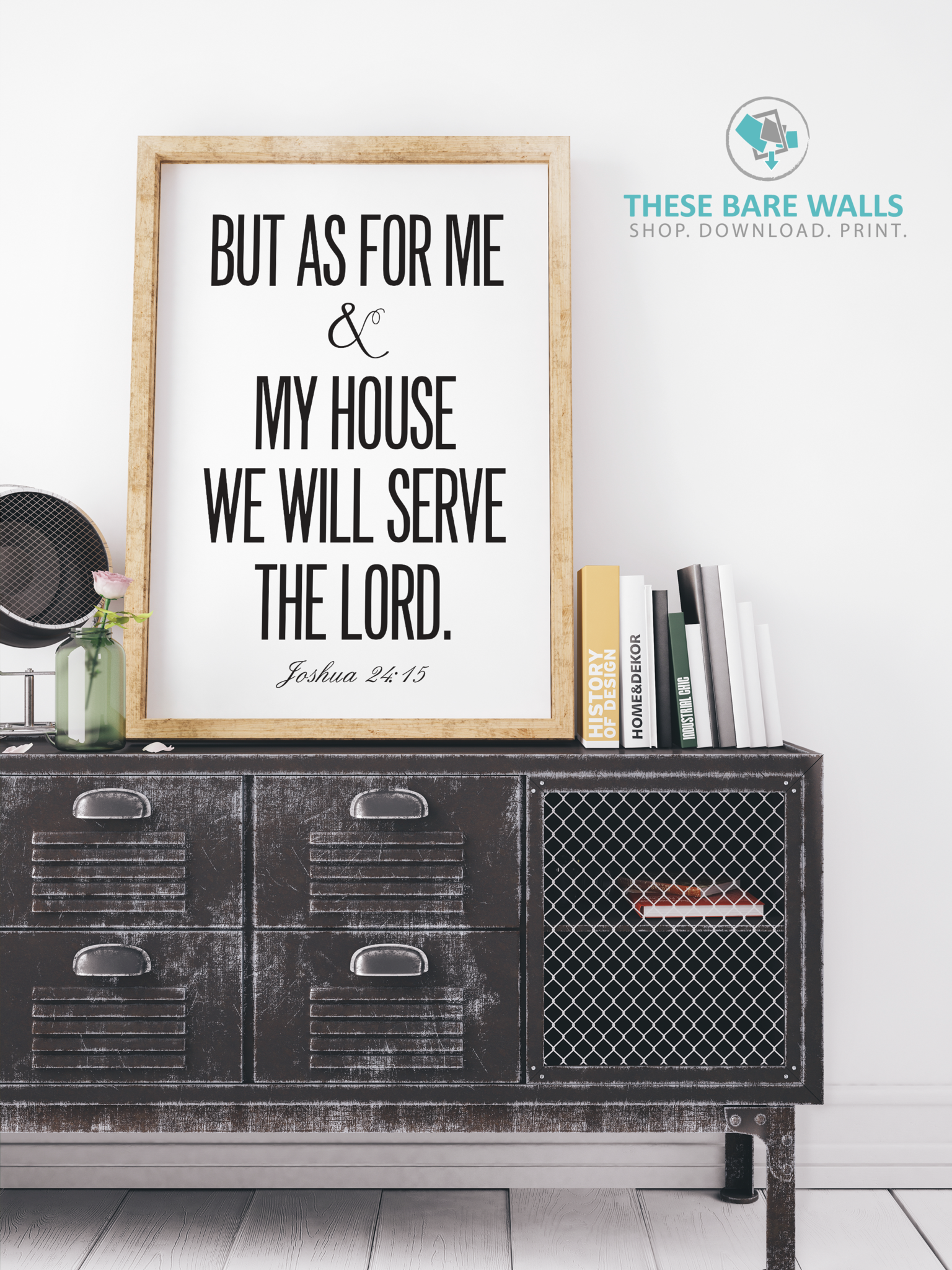 But as for me and my house we will serve the lord engineering print