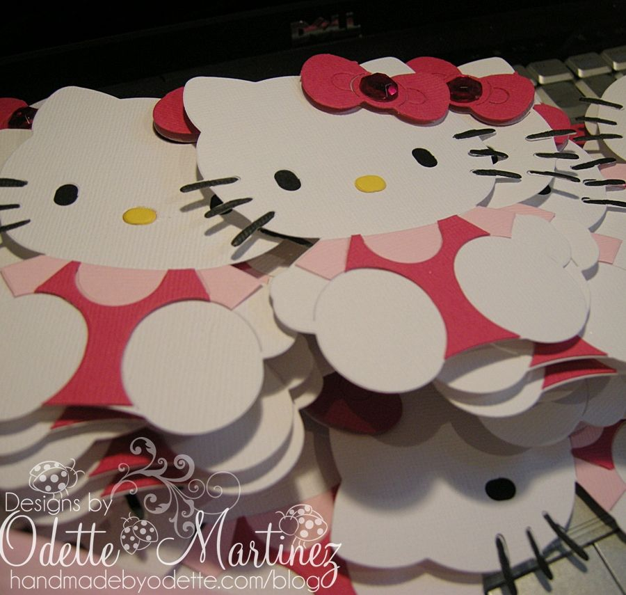 Hello Kitty Paper Cut Outs Hello Kitty Party Ideas Hello Kitty