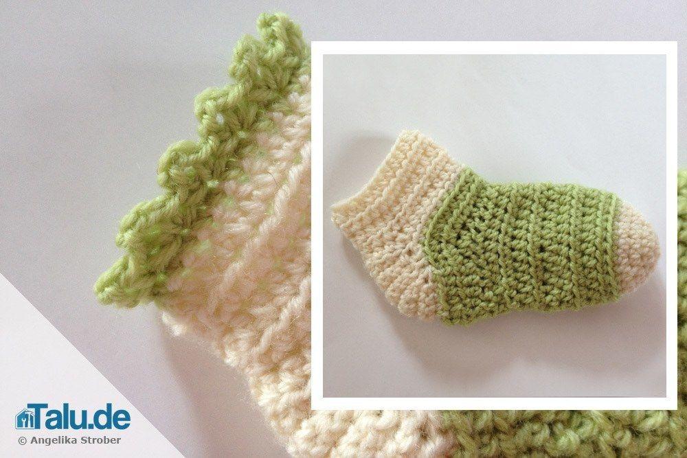 Babysocken Selbst Häkeln Anleitung Cipok Pinterest Crochet