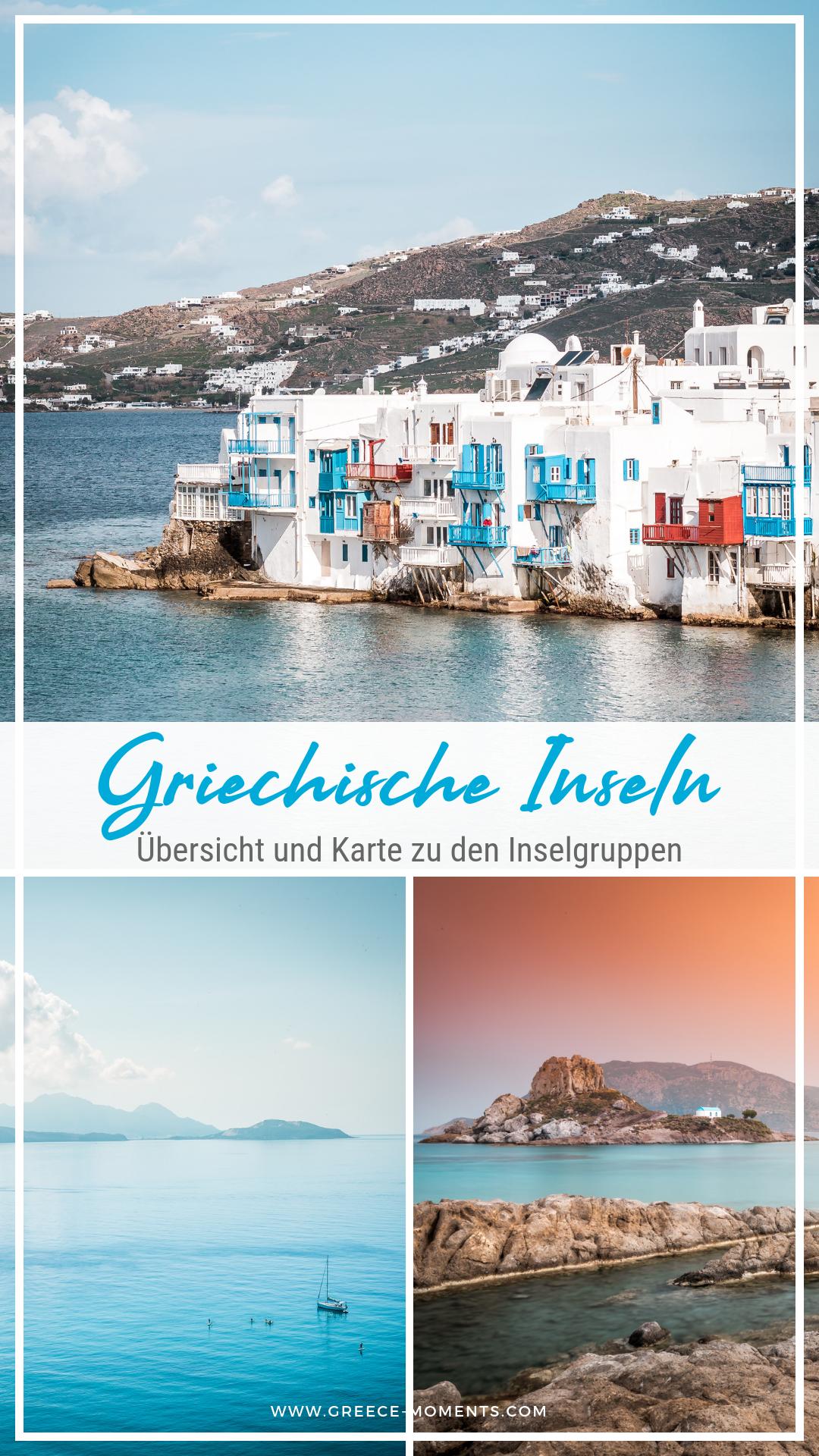 übersicht Griechische Inseln