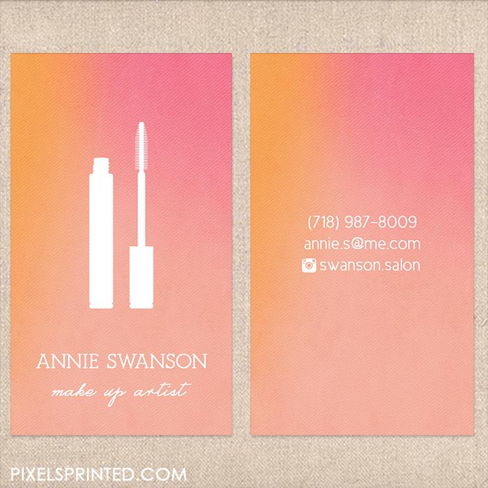 make up artist business cards, make up salon business cards, makeup ...