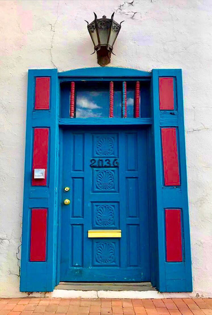 Albuquerque New Mexico Painted Doors Unique Doors Door Entryway