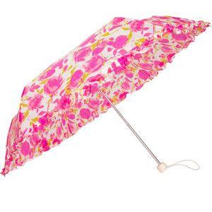 Lulu Guinness Superslim Rose Print Umbrella