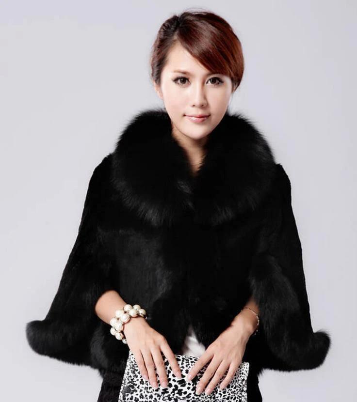 XWBO Women Faux Fur Jacket Collar Down Leather Black Coat Warm Parka Outwear Winter