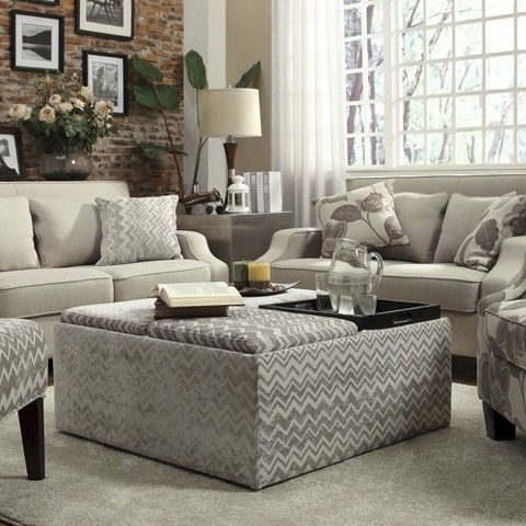 Outstanding Kerns Flip Top Storage Ottoman Chevron Grey Family Room Caraccident5 Cool Chair Designs And Ideas Caraccident5Info