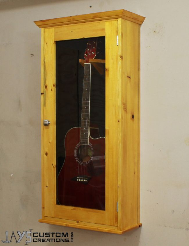 How To Make An Acoustic Guitar Display Case  DIY Wood