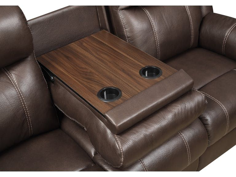 Excellent Bingo Reclining Sofa With Drop Down Table Chocolate In Gmtry Best Dining Table And Chair Ideas Images Gmtryco