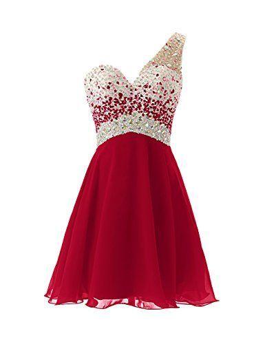 Beading Short Graduation Dresses, Short-Mini Graduation Dresses, Chiffon and Beading Homecoming Dresses, One Shoulder Homecoming Dress, Homecoming Dress On Sale,