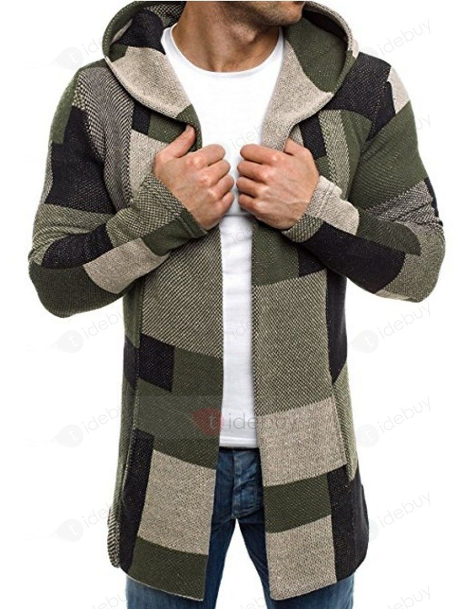 Pullover Cardigan Kapuzepullover Pulli Strickjacke Herren Punk Lang Jacke Mäntel