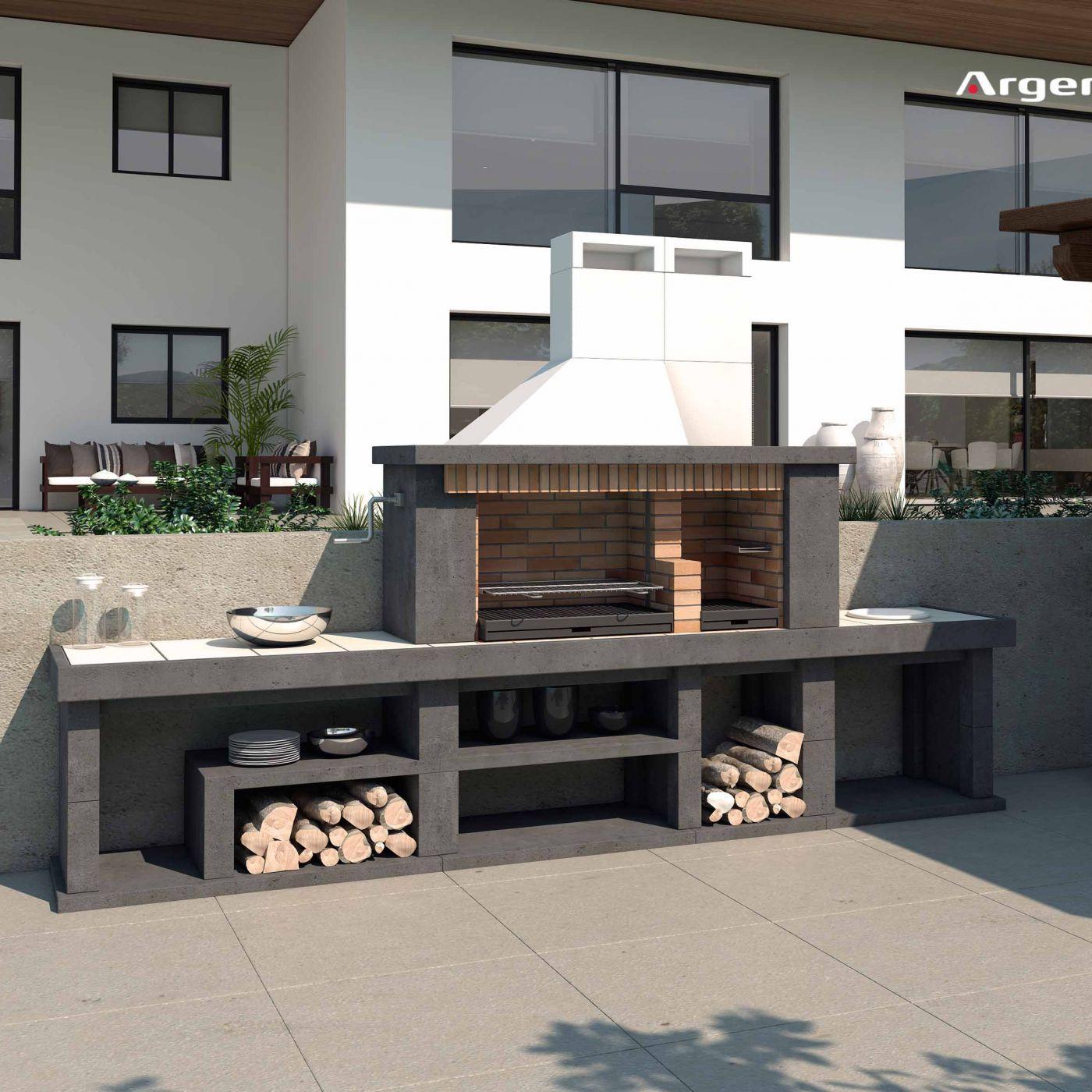 Delta recte jardin pinterest barbacoa asador y parrilla for Ladrillos para barbacoa