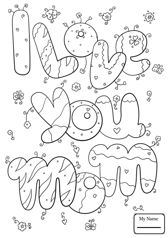 I Love You Grandma Coloring Pages Printable Dengan Gambar