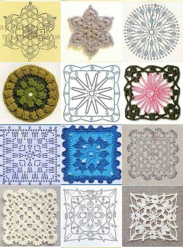 Crochet granny square | Crochet Granny Square | Pinterest | Häkeln