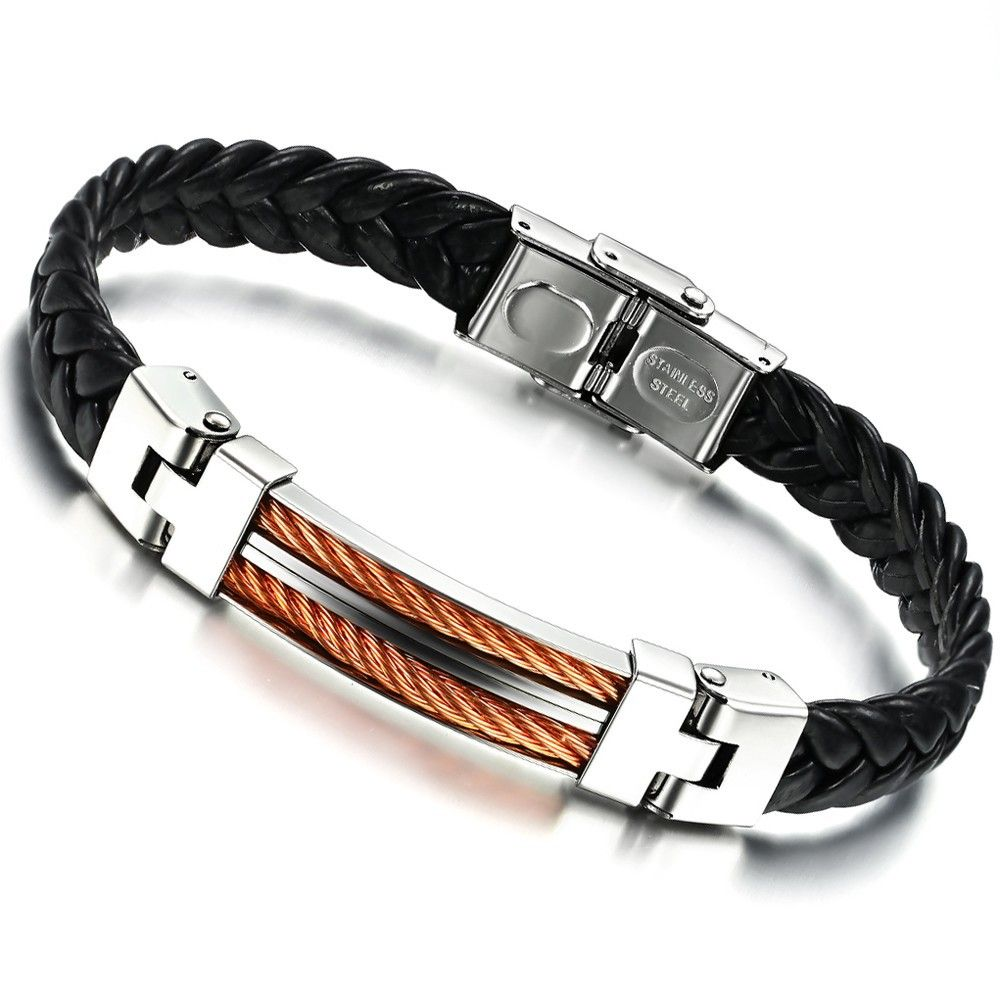 Zt Jewelry Trendy Personalized Titanium Bracelet For Men With Stainless  Steel And Gold Color Mental With