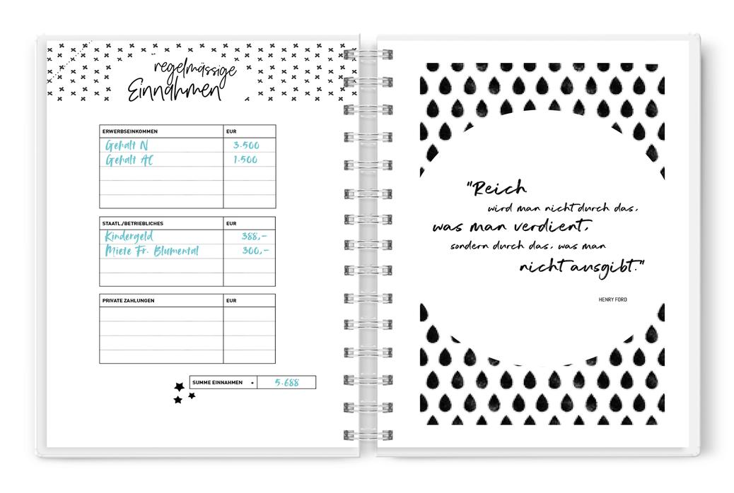 Haushaltsbuch Alles Zum Ausdrucken Haushaltsbuch Kassenbuch Haushaltsbuch Fuhren