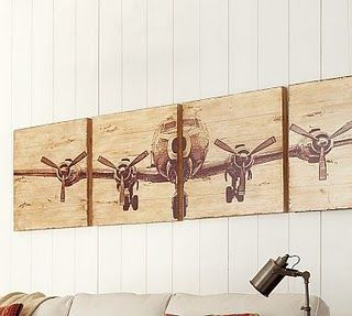 4 panel plane painting pb knockoff do it yourself well somday diy art 4 panel plane painting pb knockoff solutioingenieria Image collections