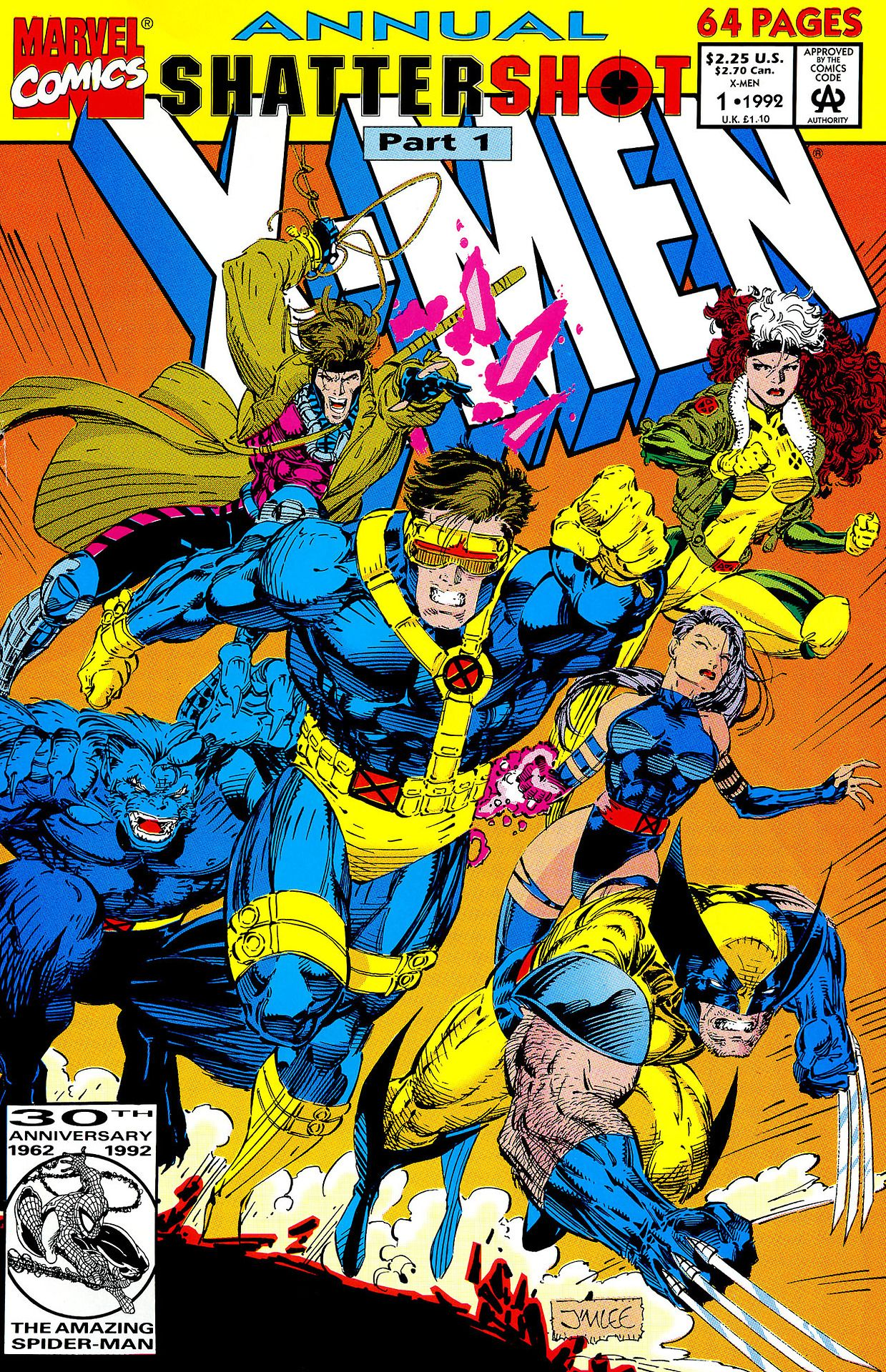 X Men Annual 1 By Jim Lee I Actually Have This Issue Marvel Comics Covers Xmen Comics Comics