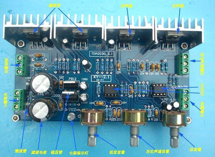 Tda2030A Tda2030A Power Amplifier Board Parts Two-Channel DIY Tda2030A Brown
