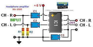 tda2822m stereo headphone amplifier circuit schematic audio in rh pinterest com