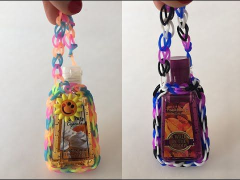 Hand Sanitizer Holder Made Out Of Daisy Loom Bands Rainbow Loom