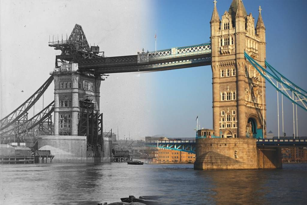 London Past and present: Historic London merges with ...