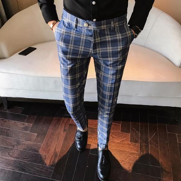 Pantalon Korean Fashion Moda Ropa Hombre Pantalon Azul Hombre Estilo De Ropa Hombre
