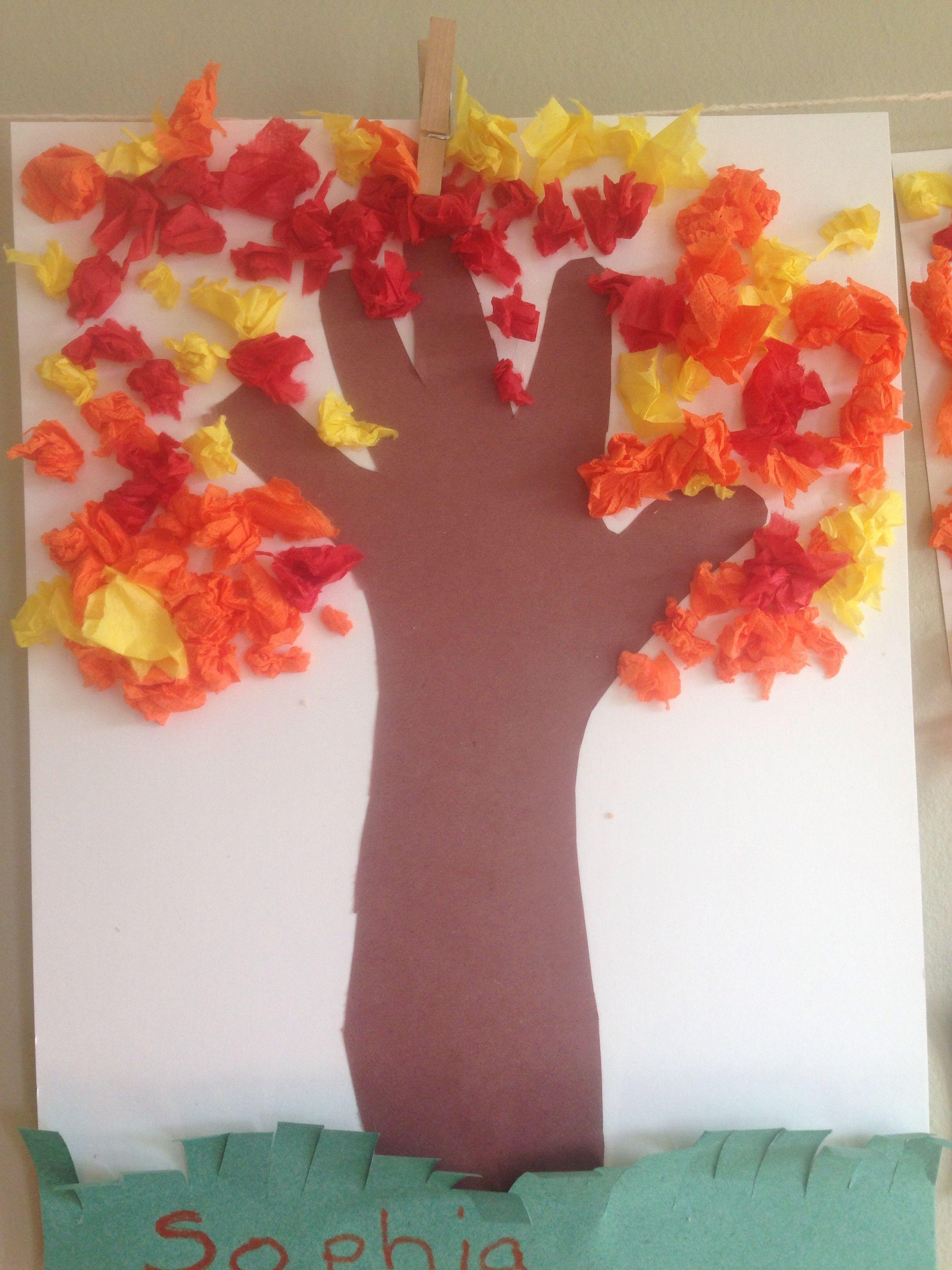 Handprint Fall Tree For Preschool