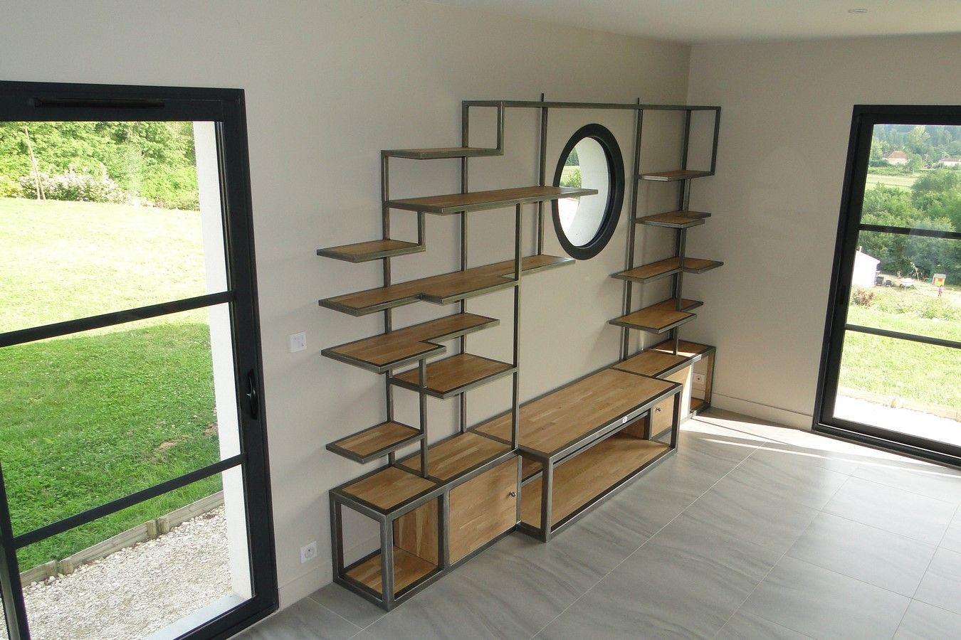 conception et fabrication de mobilier contemporain acier bois metal crateur artisanal table chaise console bibliothque - Mobilier Contemporain