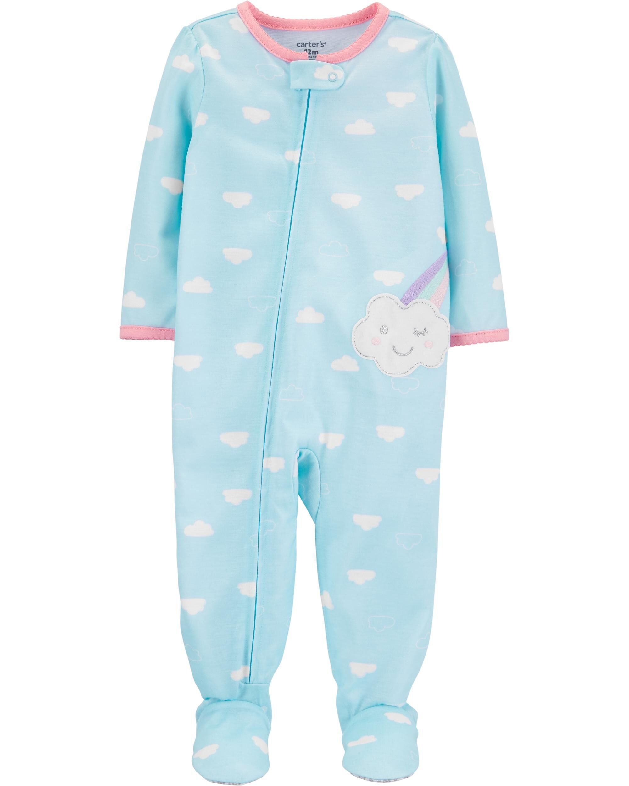 NWT Carter/'s Infant Baby Boys Fleece Sleeper Footie Pajamas BLUE DOGS 6 Months