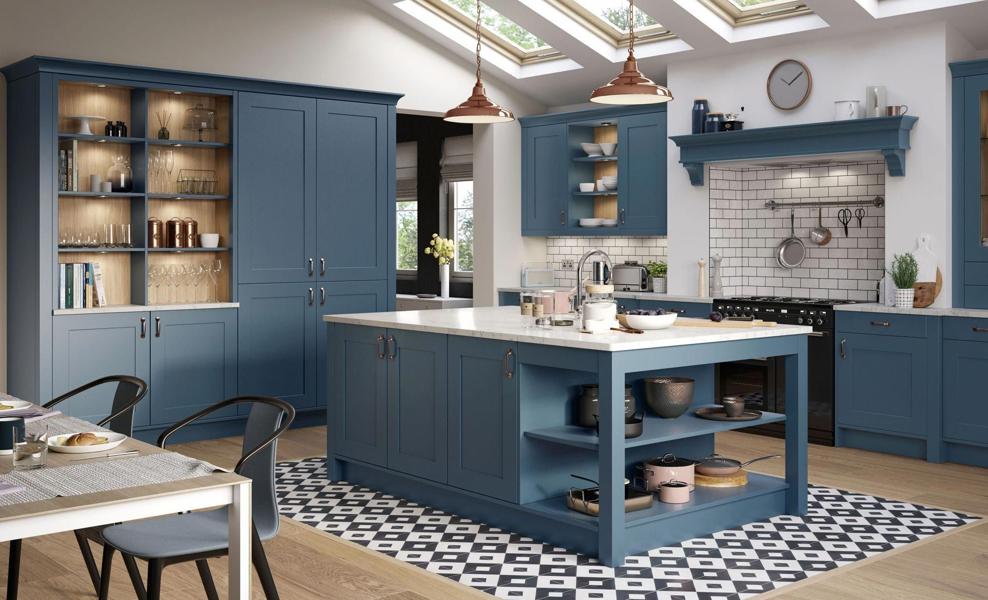 Georgia Airforce #kitchencolourrustic | Solid wood kitchen ...