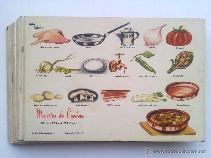 57 recetas fichas cocina grafica waly creaciones eva - Cocinas anos 50 ...