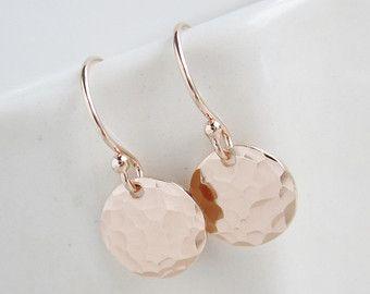 Handmade Rose Gold Earrings Etsy 23