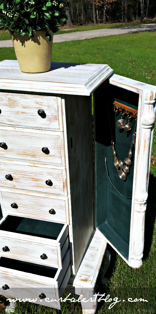 Rustic Jewelry Armoire Inspiration Curb Alert White Rustic Jewelry Armoire Furniture Finishes
