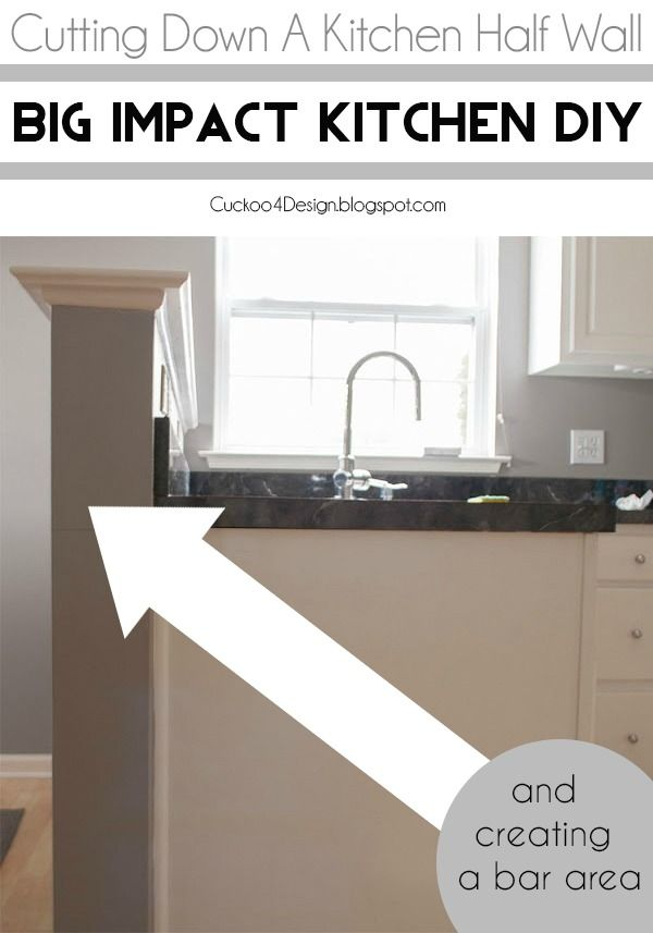 How To Build A Pony Wall For Kitchen Island