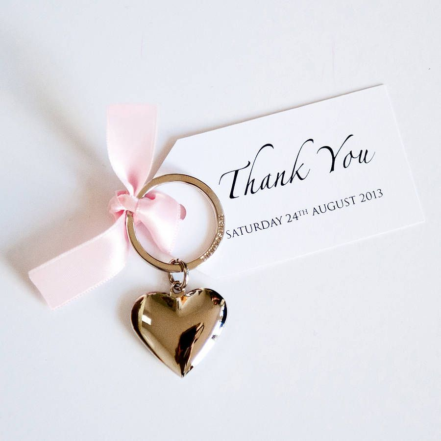 20 Heart Key Ring With Tag Favours By Twenty Seven Notonthehighstreet