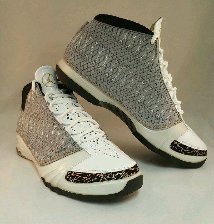 Air Jordan XX3 23 XXIII WHITE STEALTH GREY BLACK GOLD 318376-102 Size 10