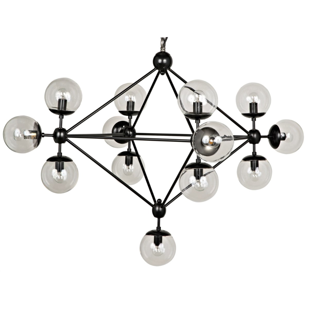 Pluto Chandelier Black Metal Small Chandeliers Noir Small