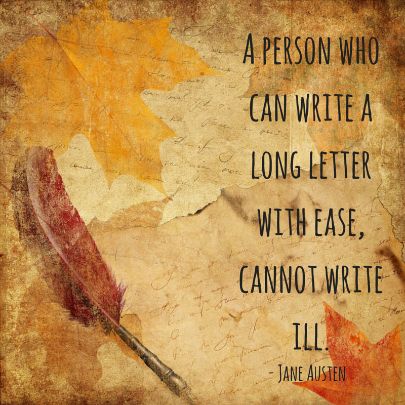 """A person who can write a long letter with ease, cannot write ill"""