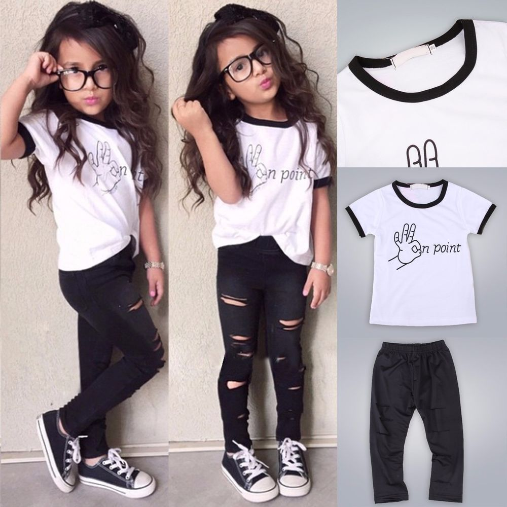 a9fd4877dd9 2pcs Toddler Kids Baby Girls T-shirt Tops+Long Pants Leggings Outfit  Clothes Set  Unbranded  DressyEverydayHoliday