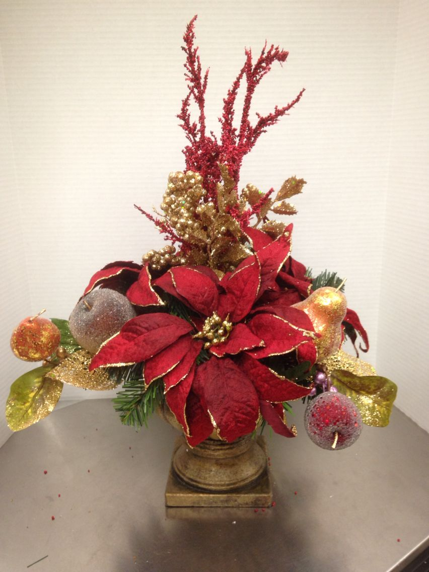 Christmas silk flower arrangements topsimages christmas floral christmas decor christmas arrangement silk flowers christmas table top jpg 852x1136 christmas silk flower mightylinksfo