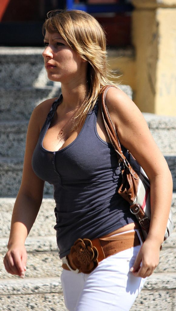 Busty On Street