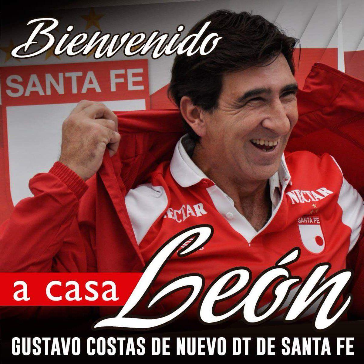 RT @SantaFe: ¡Gustavo Costas es de nuevo DT de Santa Fe, llega este domingo al país y el lunes estará al frente del equipo! https://t.co/GMQLx6ng7I