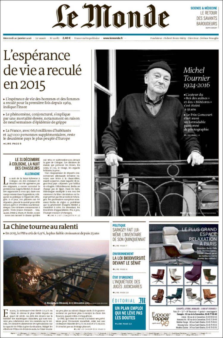 Le Monde 22087 - mercredi 20 janvier 2016