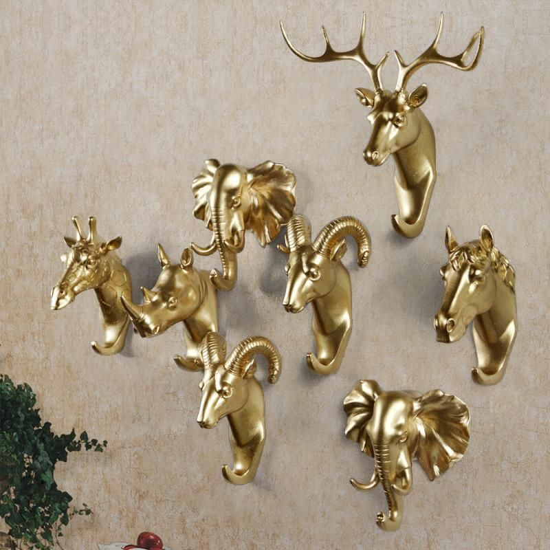 Animal Head Wall Hooks Gold Deer Hook Home Accessories Resin Coat Pared For Bathroom Yesterday S Price Us 9 09 7 95 Eur