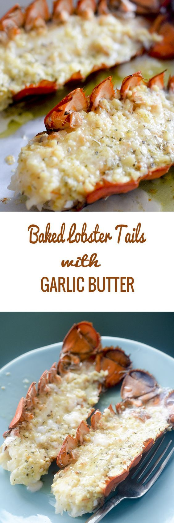 Baked Lobster Tails with Garlic Butter - Recipe Diaries #seafooddishes