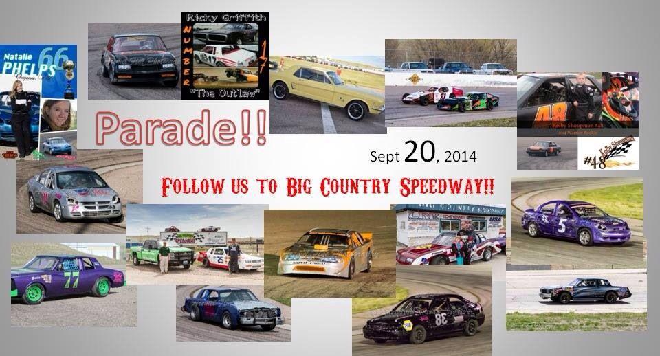 Follow us to Big Country Speedway!!! Big country