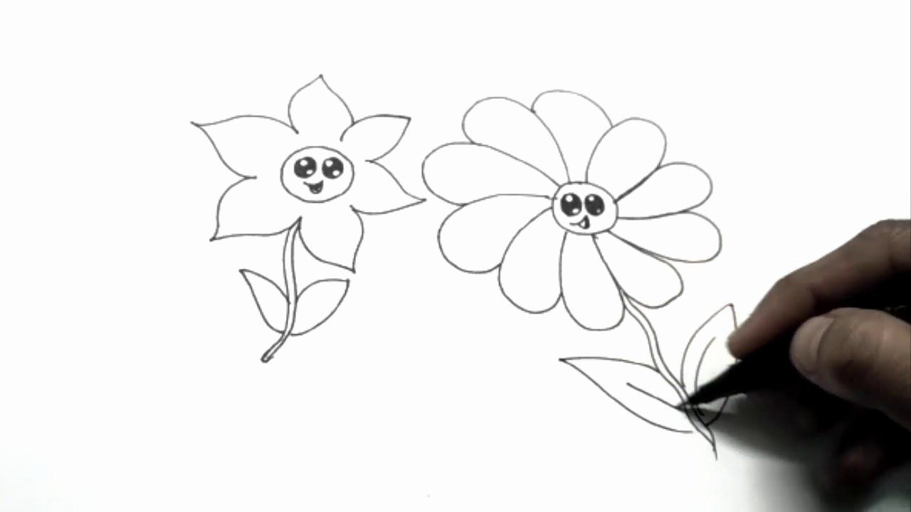 Youtube Coloring Flowers Luxury How To Draw Beach Scenery Kids Coloring Page Colorful Flowers Flower Coloring Pages Coloring Pages