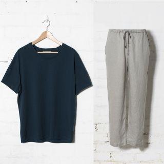 Elk   Trött Pyjama Set   SÖMN sleepwear   Stonewashed linen and cotton comfort.   Men's Pyjamas
