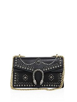 fb80af39e6c7 Gucci - Small Dionysus Studded Leather Shoulder Bag | FASHION IS ...
