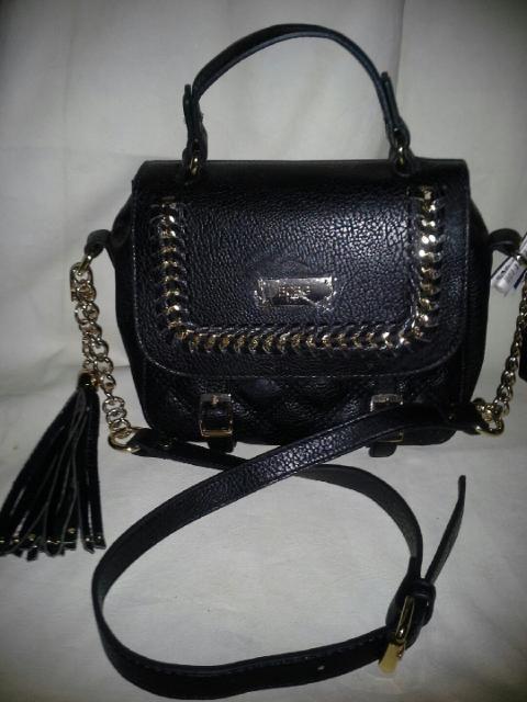 730b12bce6 BCBG PARIS Crossbody Gold Chain Quilted Tassel Bag Purse ~ Black  129   BCBGParis  MessengerCrossBody